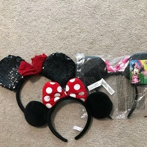 3 Minnie Mouse Headbands